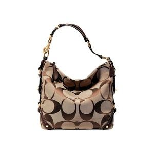 COACH Carly Large Signature Bag with Dustbag